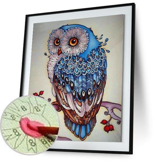 Forest Owl - Paint By Numbers - Special Offer 5DArtist 4x8