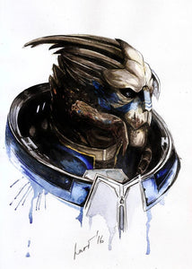 Garrus- by Olha Okruzhko - Diamond Painting Kit