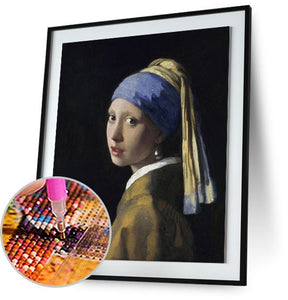 Girl with a Pearl Earring - by Johannes Vermeer 5DArtist