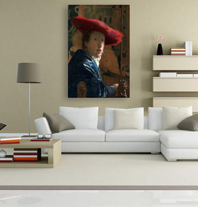 Girl with a Red Hat - by Johannes Vermeer 5DArtist