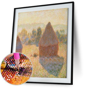 Haystacks on a Foggy Morning - by Claude Monet 5DArtist