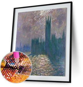 House of Parliament - by Claude Monet 5DArtist