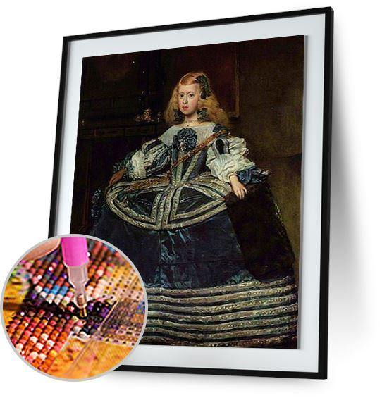 Infanta Margarita Teresa in a Blue Dress - by Diego Velazquez 5DArtist