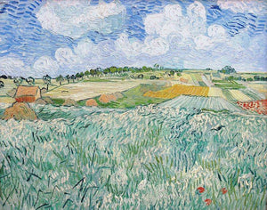 Landscape near Auvers: Wheatfields - by Vincent van Gogh - Diamond Painting Kit