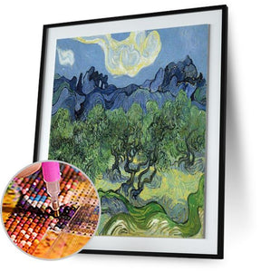 Landscape with Olive Trees - by Vincent van Gogh 5DArtist