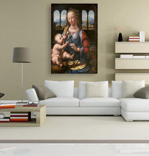 Madonna of the Carnation - by Leonardo da Vinci 5DArtist