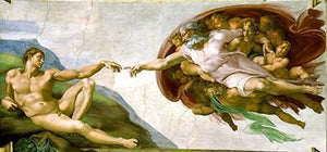 "Michelangelo Creation of Adam - Best Freeplus 5DArtist 6x8""/15x20cm (Low Details)"