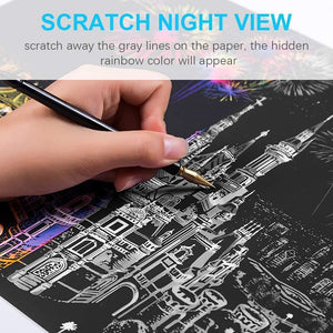 Moscow - Scratch Art - Diamond Painting Kit