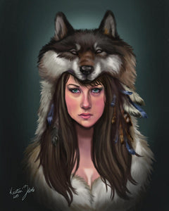 Motherwolf - by Kristina Zurlo - Diamond Painting Kit