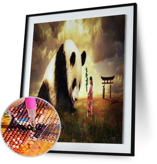 Panda and Girl 5DArtist