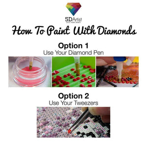 Panda and Girl - Diamond Painting Kit