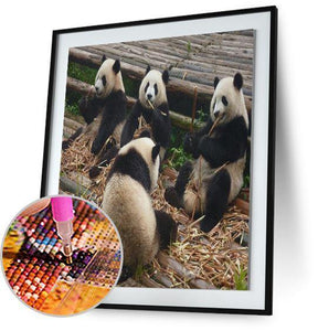 Panda Family 5DArtist