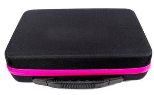 Premium Fabric Carrying Case with 60 Storage Bottles 5DArtist Pink