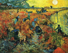 Red Vineyards at Arles - by Vincent van Gogh - Diamond Painting Kit