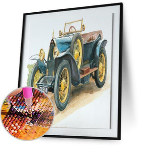 Retro Watercolour Car 5DArtist