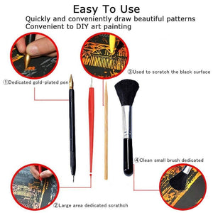 Scratch Tools - 14 pcs set - Diamond Painting Kit