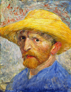 Self Portrait with Straw Hat - by Vincent van Gogh 5DArtist