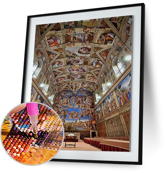 Sistine Chapel - by Michelangelo 5DArtist