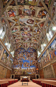 Sistine Chapel - by Michelangelo - Diamond Painting Kit