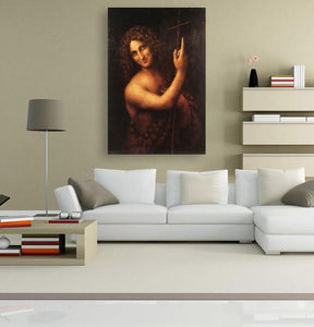 St John the Baptist - by Leonardo da Vinci 5DArtist