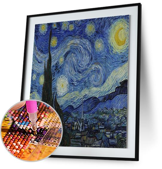 Starry Night - by Vincent van Gogh 5DArtist