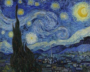 Starry Night - by Vincent Van Gogh - Paint By Numbers - Diamond Painting Kit