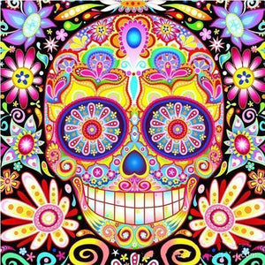 "Sugar Candy Skull - Best Freeplus 5DArtist 6x8""/15x20cm (Low Details)"