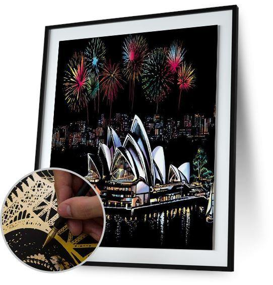 Sydney Sky Night - Scratch Art 5DArtist
