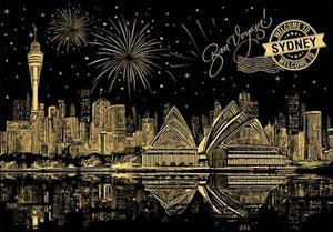 Sydney View - Scratch Art - Special Offer - Diamond Painting Kit