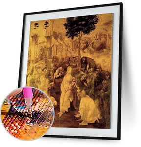 The Adoration of the Magi - by Leonardo da Vinci 5DArtist