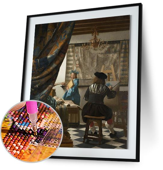 The Art of Painting - by Johannes Vermeer 5DArtist