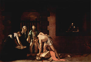 The Beheading of Saint John the Baptist - by Caravaggio - Diamond Painting Kit