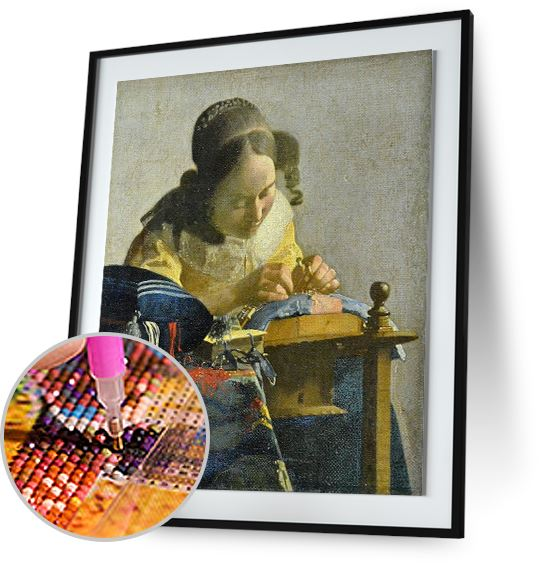 The Lacemaker - by Johannes Vermeer 5DArtist