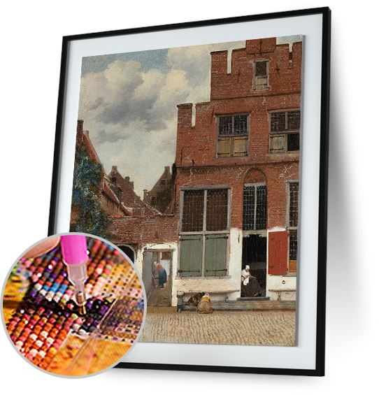 The Little Street - by Johannes Vermeer 5DArtist