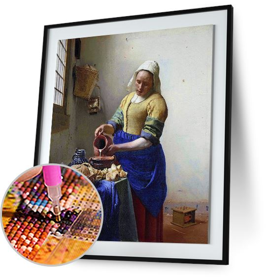 The Milkmaid - by Johannes Vermeer 5DArtist