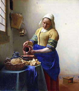 The Milkmaid - by Johannes Vermeer - Diamond Painting Kit
