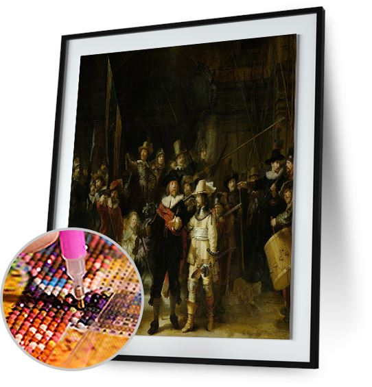 The Night Watch- by Rembrandt 5DArtist