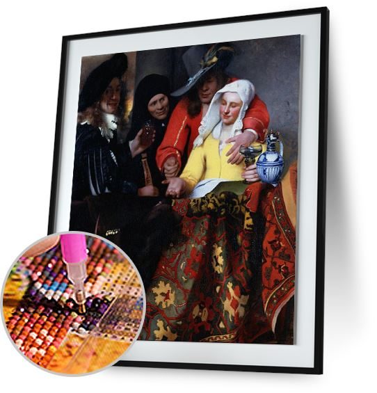 The Procuress - by Johannes Vermeer 5DArtist
