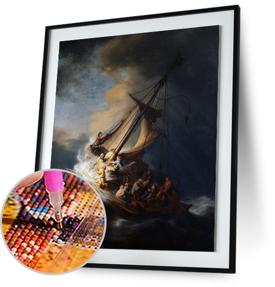 The Storm on the Sea of Galilee - by Rembrandt 5DArtist
