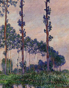 Three Trees in Grey Weather - by Claude Monet 5DArtist