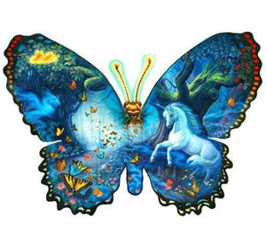 Unicorn and Butterfly - Diamond Painting Kit