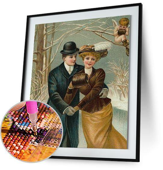 Victorian Christmas Couple 5DArtist
