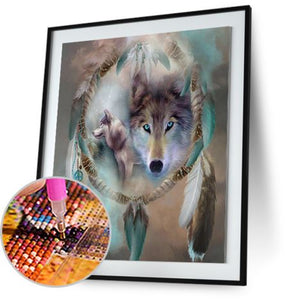 Wolf & Dream Catcher - Special Offer Freeplus 5DArtist