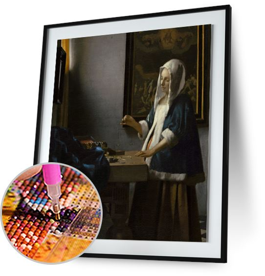 Woman Holding a Balance - by Johannes Vermeer 5DArtist
