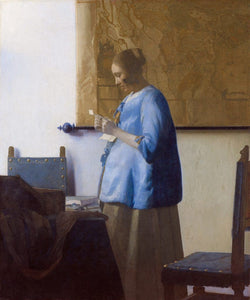 Woman in Blue Reading a Letter - by Johannes Vermeer - Diamond Painting Kit