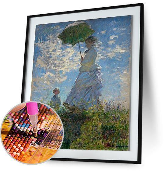 Woman with a Parasol - by Claude Monet 5DArtist
