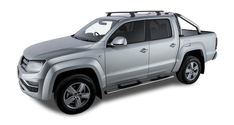 Volkswagen Amarok 2H 4dr Ute Dual Cab 02/11 On Vortex RCH Black 2 Bar Roof Rack