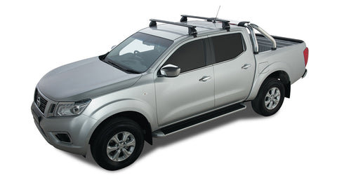 Nissan Navara NP300 4dr Ute Dual Cab 07/15 On Vortex 2500 Black 2 Bar Roof Rack