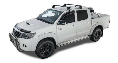 Toyota Hilux 4dr Ute Dual Cab 04/05 to 09/15 Vortex 2500 Black 2 Bar Roof Rack