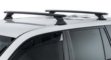 Mitsubishi Triton MQ/MR 4dr Ute Double Cab 04/15 On Vortex RCH Black 2 Bar Roof Rack
